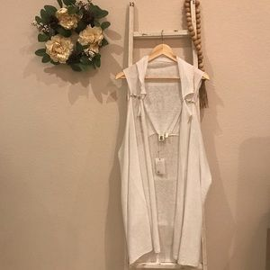 [Anthropologie] Moth White Lovely Layer Linen Vest